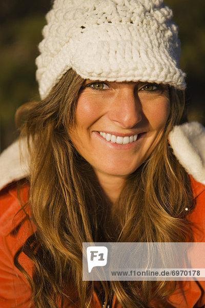 Portrait of Woman  Lake Tahoe  California  USA