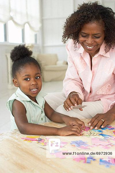 Puzzle  Tochter  Mutter - Mensch