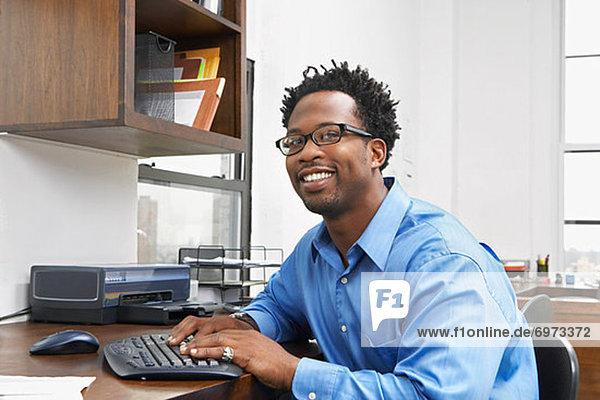 Porträt von Geschäftsmann in Office
