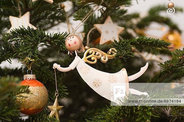 Close-up Weihnachten Weihnachtsbaum Tannenbaum Dekoration