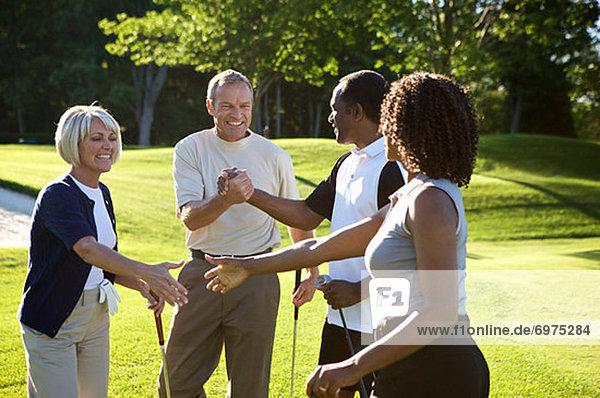 Golfsport  Golf  Kurs  schütteln