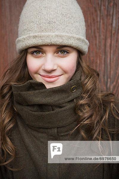 Portrait of Teenage Girl on a Farm in Hillsboro  Oregon  USA