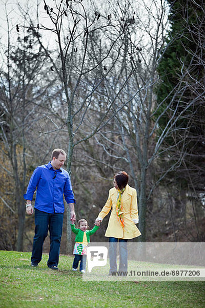 Family Walking in the Park  Bethesda  Maryland  USA