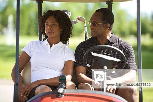 sitzend  Fuhrwerk  Golfsport  Golf