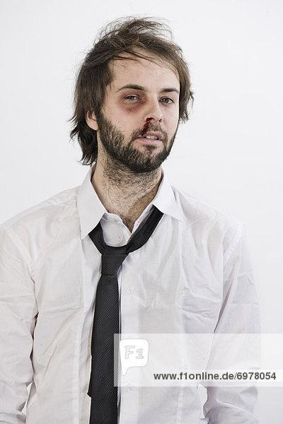Portrait  Mann  schwarz