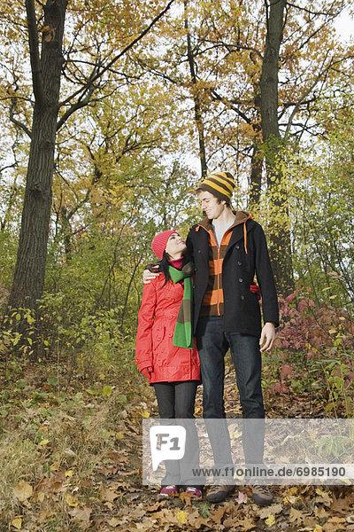 gehen  Wald  Herbst