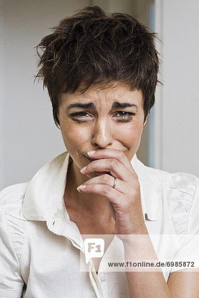 weinen  Portrait  Frau