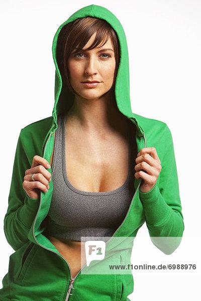Frau tragen Hoodie
