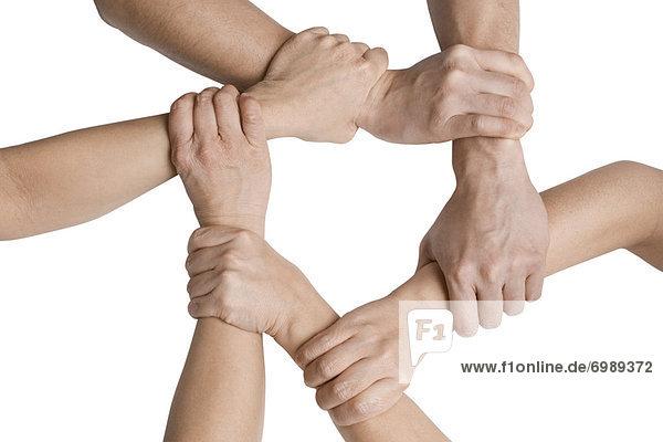 Ausgestreckt Hände