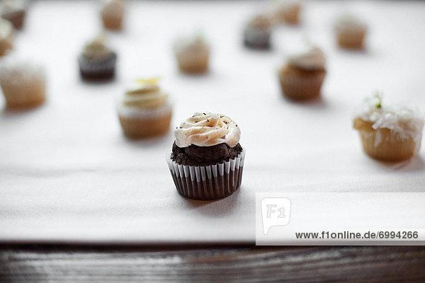 Schokolade  Gewürzvanille  Vanille  cupcake