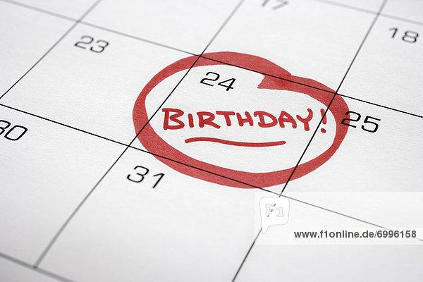 drehen  Geburtstag  Kalender