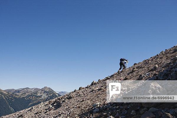 Frau  wandern  Ländliches Motiv  ländliche Motive  British Columbia  Kanada  Garibaldi