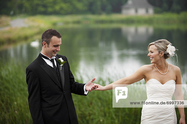 Portrait of Bride and Groom  Eagles Nest Golf Club  Vaughan  Ontario  Canada