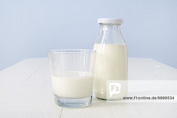 Glas  Flasche  Milch