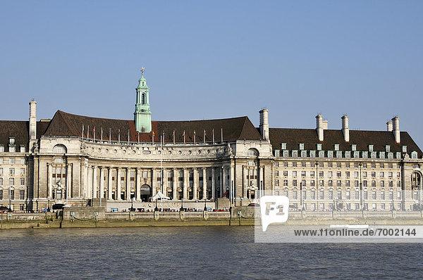 County Hall  Lambeth  South Bank  London  England