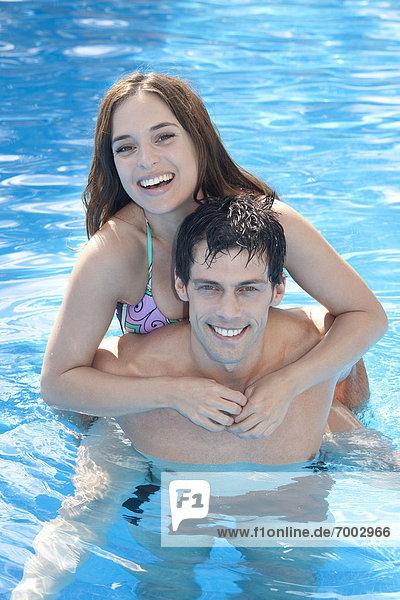 Couple  Reef Playacar Resort and Spa Hotel  Playa del Carmen  Quintana Roo  Yucatan Peninsula  Mexico
