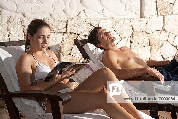 Couple Relaxing at Spa  Reef Playacar Resort and Spa  Playa del Carmen  Mexico