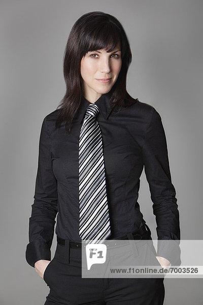 Portrait  Frau  Hemd  Krawatte  Kleidung