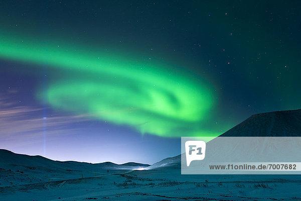 Ruhe  Nachdenklichkeit  Polarlicht  Aurora  Island