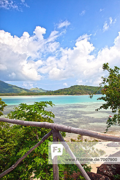 Tropisch Tropen subtropisch Strand Insel Ansicht