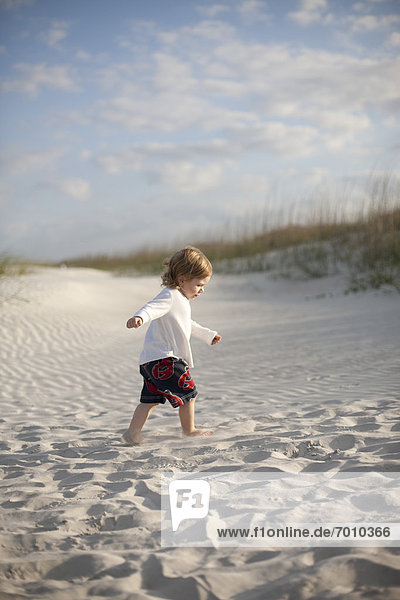Boy at the Beach  St. Augustine Beach  St. Johns County  Florida  USA