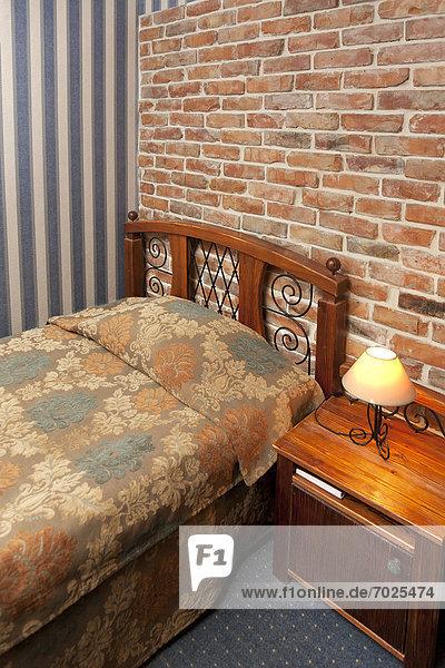 Wand  Schlafzimmer  Hotel  Ziegelstein