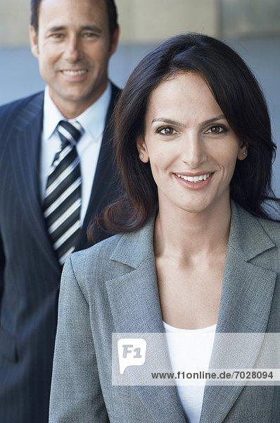 Portrait  Geschäftsfrau  Geschäftsmann