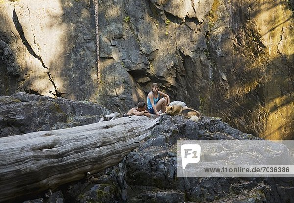 Enjoying The Woods  Elk Falls  British Columbia  Canada