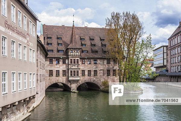 Das Heilig-Geist-Spital  Pegnitz  Nürnberg  Mittelfranken  Deutschland  Europa