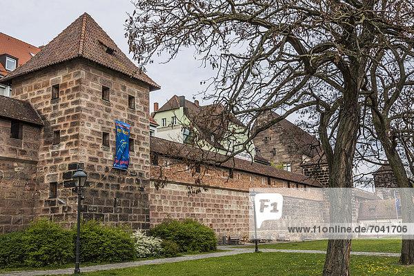 Stadtmauer  Europa  Bayern  Deutschland  Nürnberg
