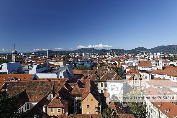 Cityscape of Graz  Styria  Austria  Europe