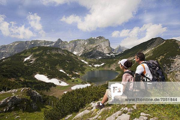 Bergwanderer  Rofangebirge  Tirol  Österreich  Europa