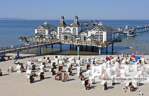 Seebrücke  Sellin  Insel Rügen  Mecklenburg-Vorpommern  Deutschland  Europa