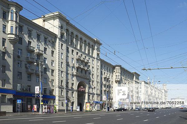 Twerskaja-Straße  Moskau  Russland  Eurasien  Europa