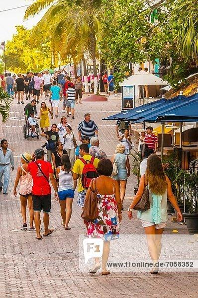 Straße , kaufen , Mexiko , Fußgänger , Quintana Roo , Riviera Maya