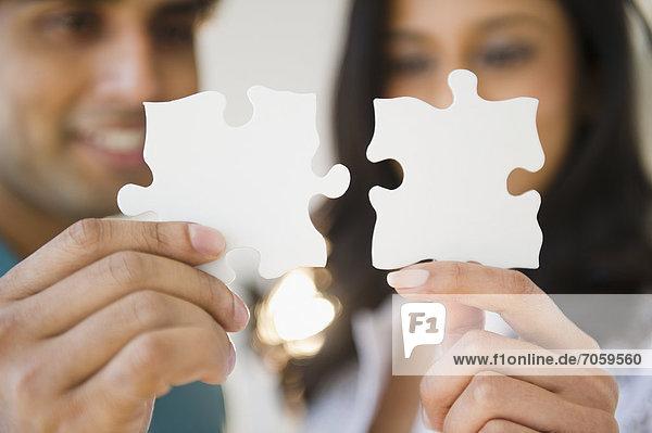 halten  Puzzle  mischen  Gegenstand  Mixed