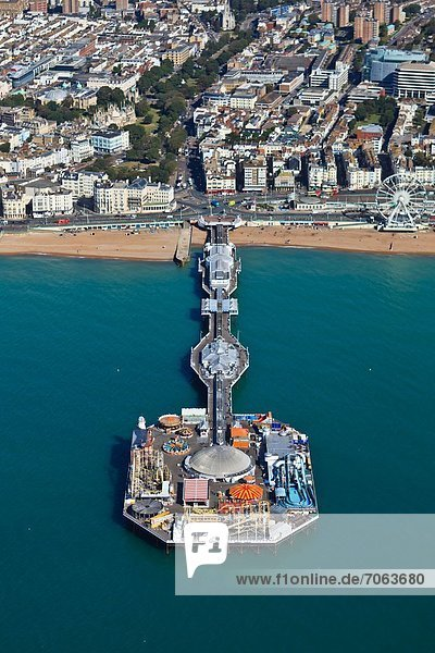 Mandatory Credit: Photo by High Level / Rex Features (1894153p) Aerial view of Brighton Pier  Brighton  East Sussex  England  Britain Aerial views of Britain - 22 Sep 2012
