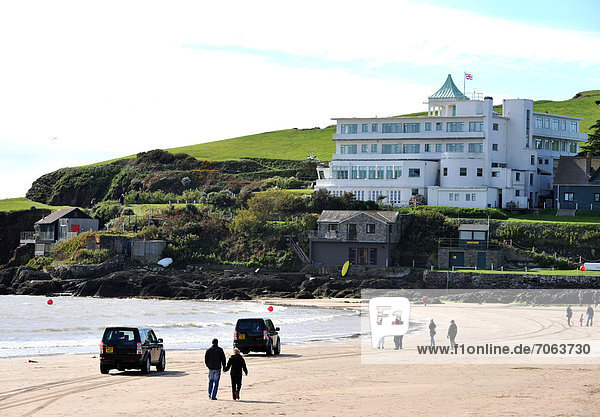 Mandatory Credit: Photo by Geoff Moore / Rex Features (1909059b) The Burgh Island Hotel  Burgh Island  south Devon  England  Britain Burgh Island  south Devon  Britain - Oct 2012