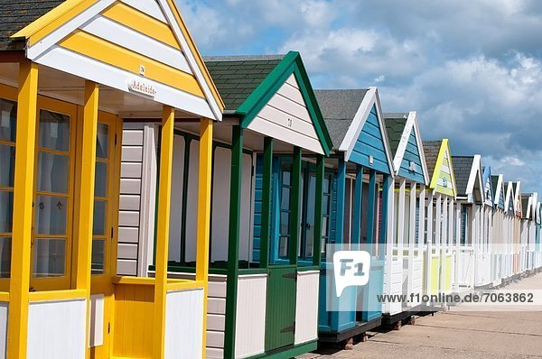Mandatory Credit: Photo by Philip Silverman / Rex Features (1910725c) Coloured Beach huts  Southwold  Suffolk  Britain Various - 2012
