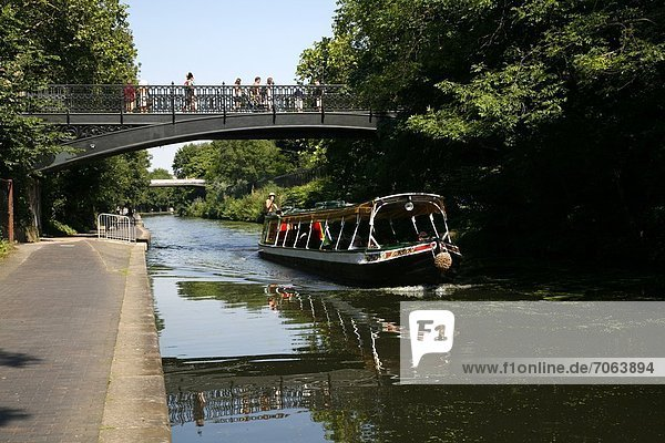 Mandatory Credit: Photo by Londonstills.com / Rex Features (1895051v) Canal boat on Regent's Canal passing under the Primrose Hill Bridge  Regent's Park Various London  Britain - 2012