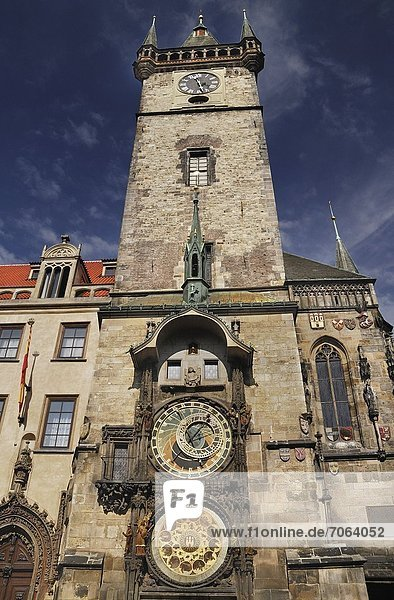 Mandatory Credit: Photo by Eye Ubiquitous / Rex Features (1906102a) Old Town Square Old Town Hall with Astronomical Clock. Prague Bohemia Czech Republic Czech Republic