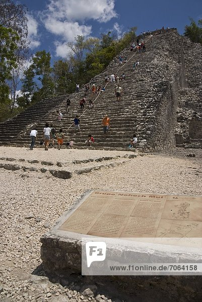 Mandatory Credit: Photo by Eye Ubiquitous / Rex Features (1906176a) The Nohoch Pyramid. Coba Quintana Roo Mexico Mexico