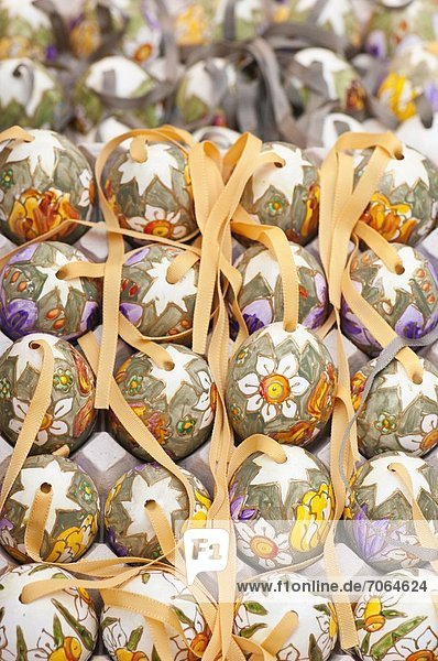 Mandatory Credit: Photo by Eye Ubiquitous / Rex Features (1906253a) Hand painted and decorated egg shells to celebrate Easter at the Old Vienna Easter Market at the Freyung. Vienna Austria Austria