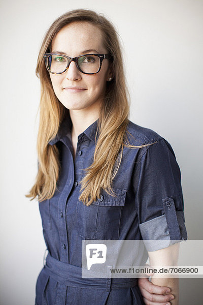 Studio Shot  portrait of young woman