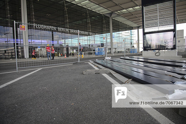 Construction site of the Berlin Brandenburg Airport BER  planned opening date is the 27th October 2013  Berlin  Germany  Europe