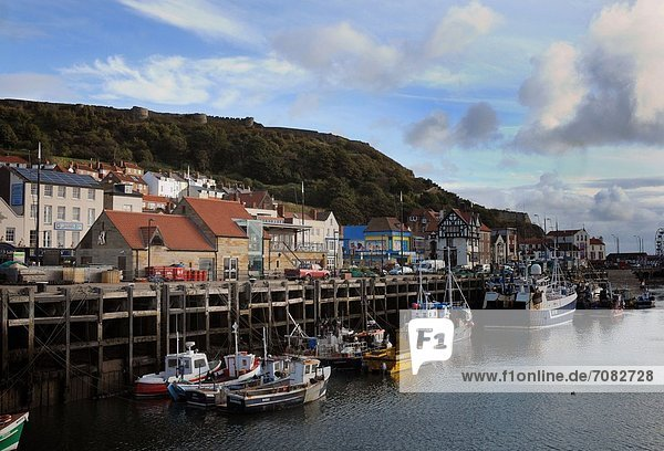 Hafen  Fotografie  Kredit  angeln  wandern  England  North Yorkshire  Scarborough
