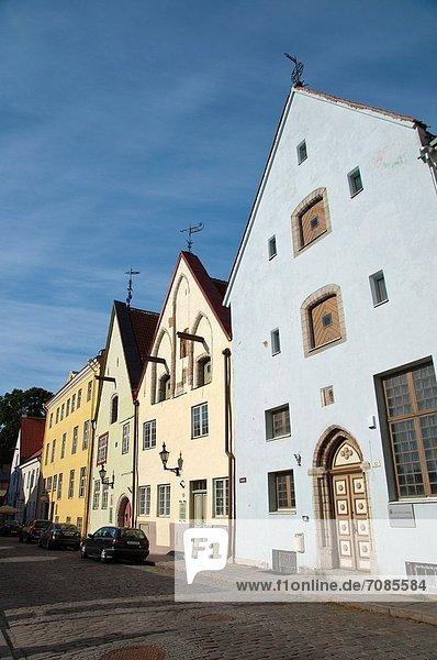 Tallinn Hauptstadt Europa Straße Stadt Estland alt