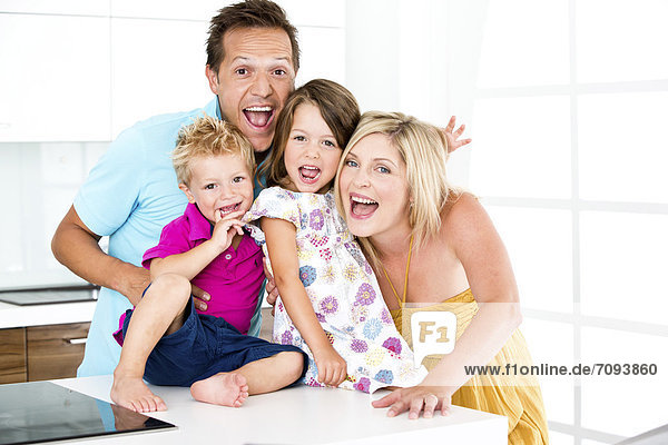 Germany,  Playful family,  smiling,  portrait