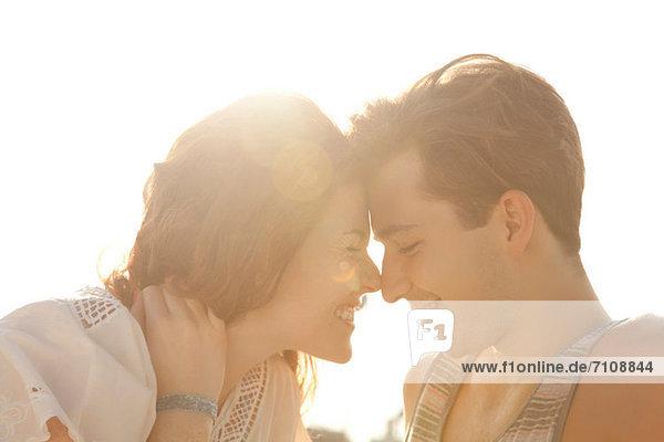 Zärtliches junges Paar  Portrait