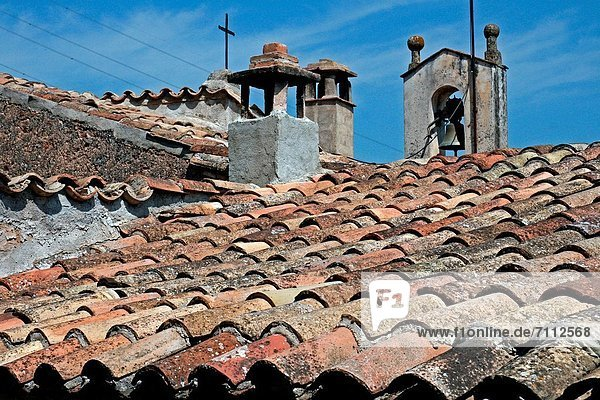tiles  roofs  Mura  Bages  Catalonia  Spain